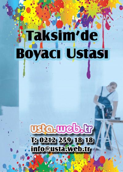 Taksim'de Boyacı Ustası