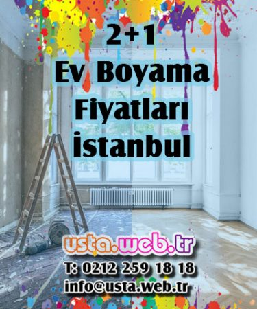 2+1 Ev Boyama Fiyatları İstanbul